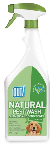 Out! natural pest wash shampoo and conditioner spray