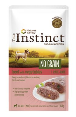 True instinct pouch no grain mini adult beef pate (8X150 GR)